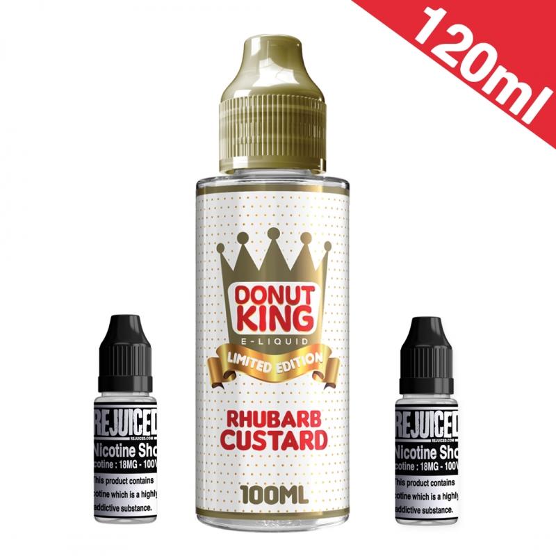 120ml Rhubarb & Custard- Donut King Limited Edition Shortfill
