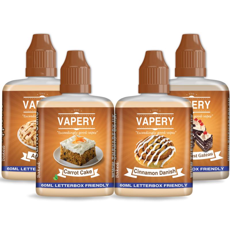 240ml The Vapery Shortfill Sample Pack